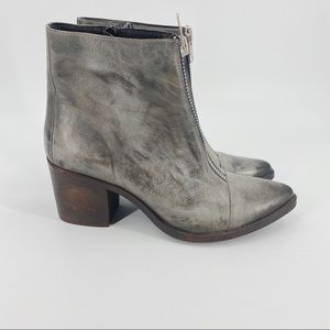 Freebird Claire distressed grey ankle boots